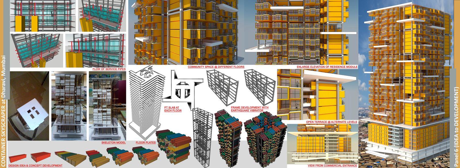 Container Skyscaper at Dharavi, Mumbai